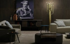 Living Room Designs with Brass Details