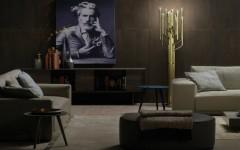 Living Room Designs with Brass Details Living Room Design Living Room Designs with Brass Details: stools and lamps FEAT Living Room Designs with Brass Details 240x150
