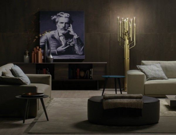 Living Room Designs with Brass Details Living Room Design Living Room Designs with Brass Details: stools and lamps FEAT Living Room Designs with Brass Details 600x460