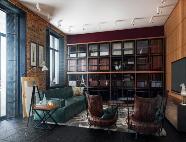living room design Mid-century Modern apartment's living room designs featured 1 600x460