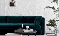 white living room green sofa