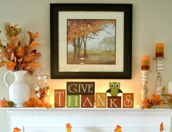 Get your Living Room Ready for Thanksgiving thanksgiving Get your Living Room Ready for Thanksgiving thankful mantel feat 600x460