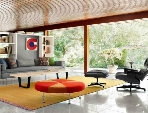Living Room Essentials: Eames Lounge Chair and Ottoman eames lounge chair Living Room Essentials: Eames Lounge Chair and Ottoman Eames Lounge Chair and Ottoman living area feat 600x460