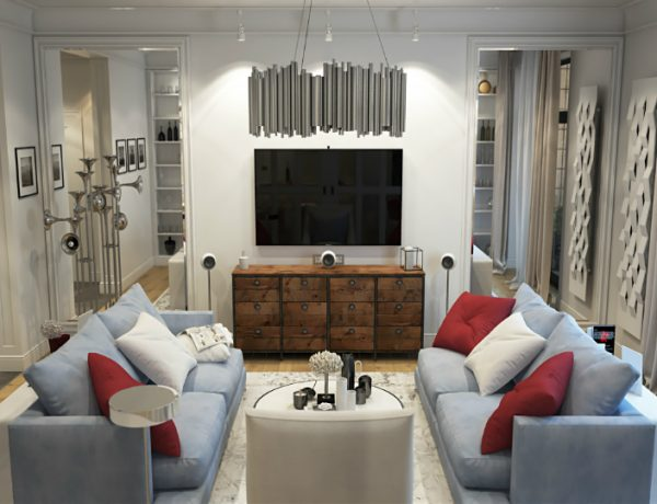 Silver Living Room Wonderland in Kiev