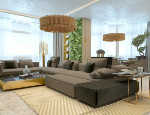 Luxury Living Room with Marble Details and Golden Lighting Designs luxury living room Luxury Living Room with Marble Details and Golden Lighting Designs Marble and Golden Living Room Luxury Lighting Designs 3 feat 600x460