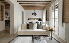 modern living room Modern Living Room with Contemporary Lighting in Medieval Barcelona 1 5 240x150