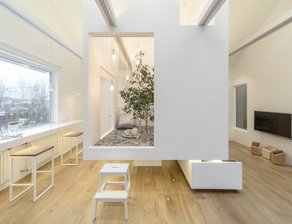 multifunctional living room A Multifunctional Living Room in Moscow by Ruetemple capa lv 600x460