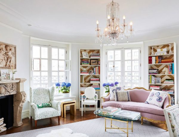 Living Room Inspiration Pastel Home in Cosmopolitan NYC FEAT
