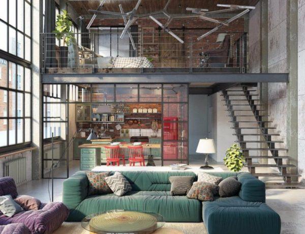 living room 10Loft-Style Living Room Design Ideas capa 4 600x460