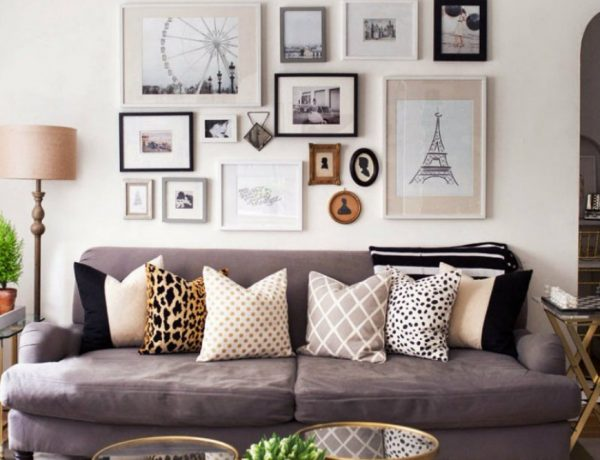living room Inspiring Ways To Display Art At Living Room capa 8 600x460
