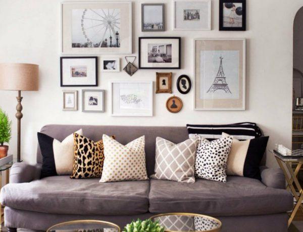 living room Inspiring Ways To Display Art At Living Room capa 8 600x460