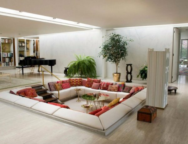 Sunken Living Room 10 Brilliant Sunken Living Room Designs capa 9 600x460