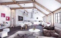 living room Exposed Beams for Your Living Room Decor Kirpichnaya stena v sovremennom interere9 240x150