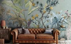 Floral Wallpapers For A Summer Living Room Decor