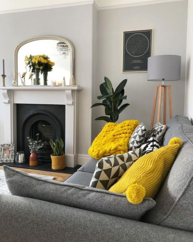 Living Room Color Trends A Touch Of Yellow For Summer_1