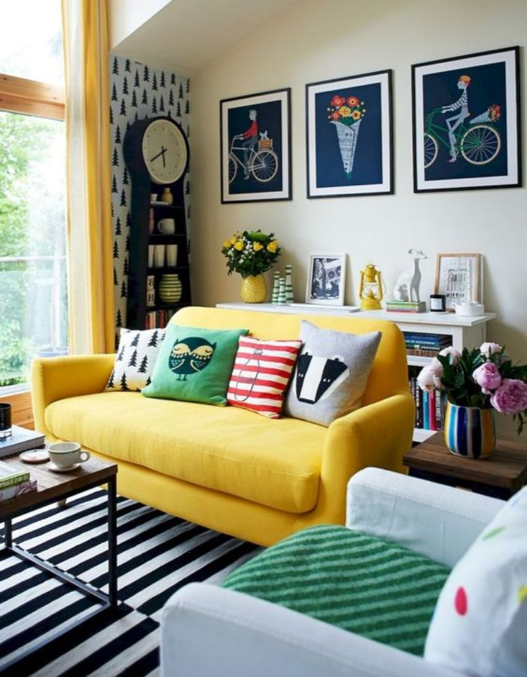 Living Room Color Trends A Touch Of Yellow For Summer_5