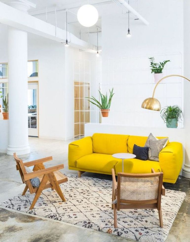 Living Room Color Trends A Touch Of Yellow For Summer_6