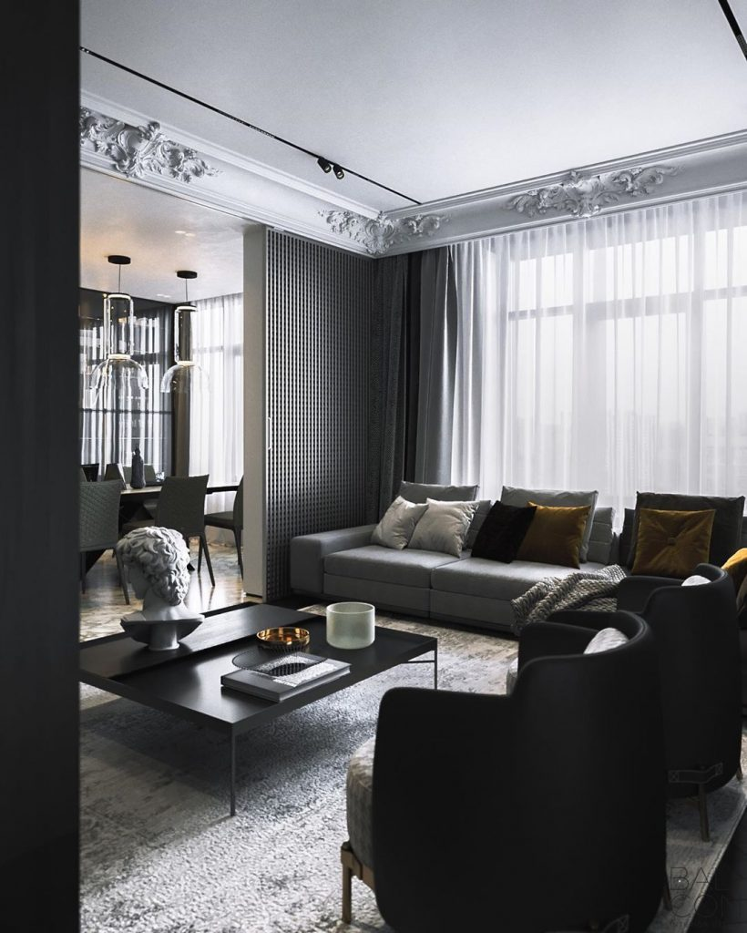 Most Beautiful Living Rooms of 2019 by Balcon Studio  Most Beautiful Living Rooms of 2019 by Balcon Studio balcon proect 2 820x1024