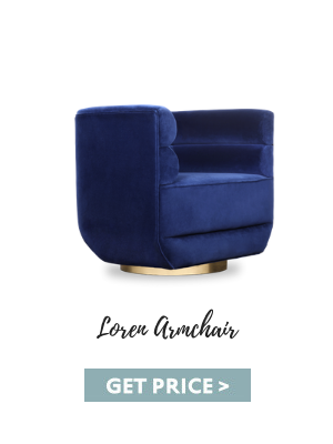 luxury living room designs The Best Luxury Living Room Designs from Our Favorite Celebrities loren armchair blue