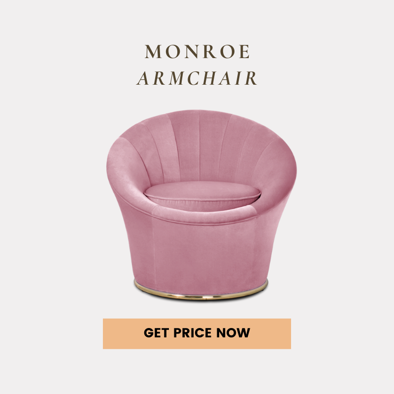 pink and gold decorations Pink And Gold Decorations For A Chic Living Room monroe armchair get price 1