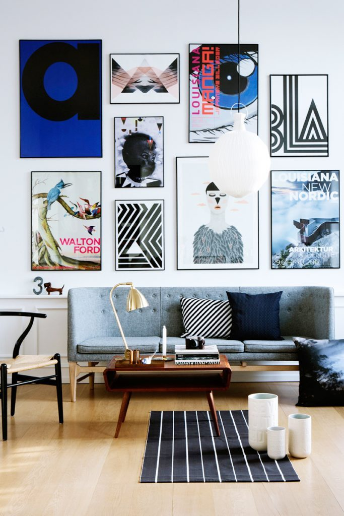 Can't go to the Museum? Get a Gallery wall in your Living Room! gallery wall Can't go to the Museum? Get a Gallery wall in your Living Room! Midcentury Modern Gallery Wall 683x1024 683x1024