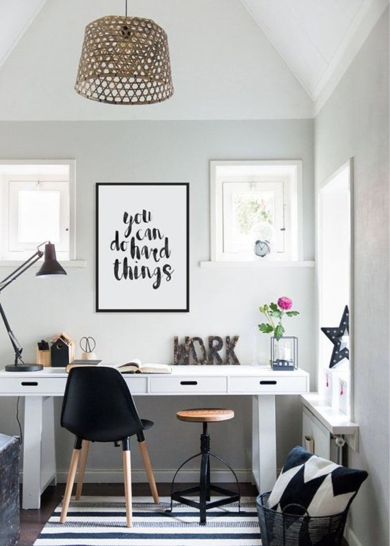 5 DIY Home Office Design Ideas - Take back the motivation you need! home office 5 DIY Home Office Design Ideas – Take Back the Motivation you Need! 20 Inspirational Home Office Decor Ideas For 2019 16