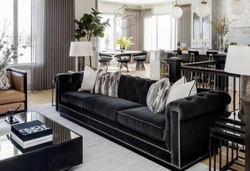 A Black Living Room, Some Inspirations For Your Summer Interior Design! black living room Black Living Room, Some Inspirations For Your Summer Interior Design! Black 1 1
