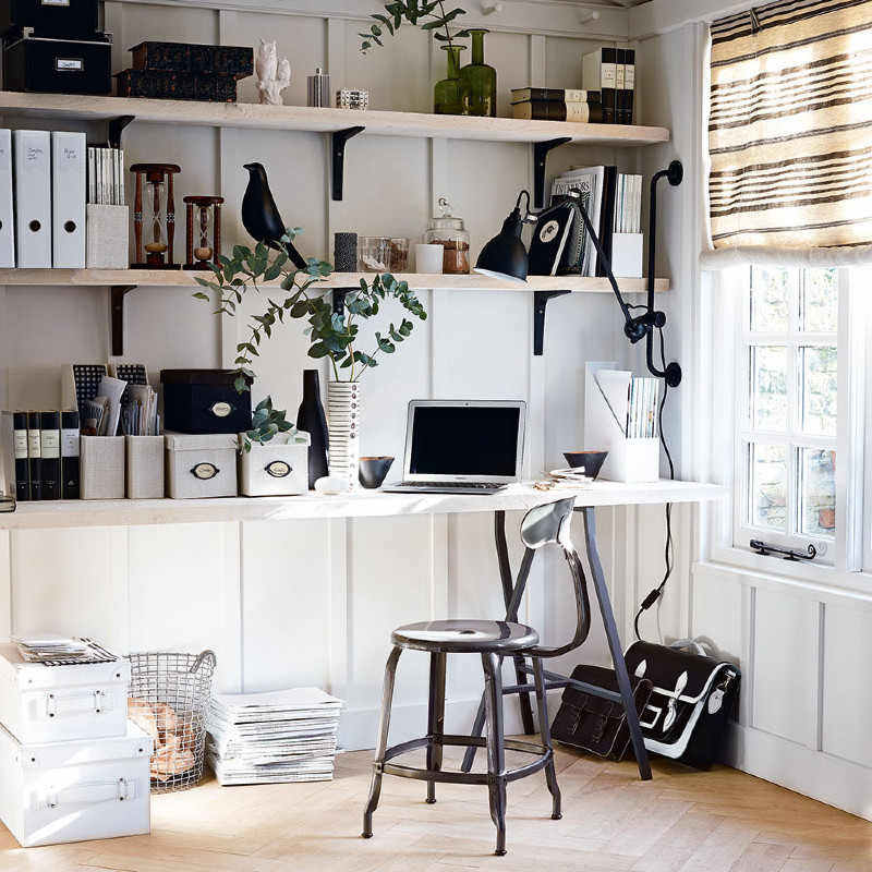 5 DIY Home Office Design Ideas - Take back the motivation you need! home office 5 DIY Home Office Design Ideas – Take Back the Motivation you Need! Home office storage ideas long shelves