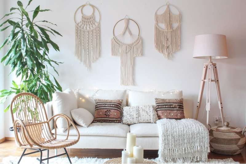 70s The Best Designs From the 70s to Décor your Living Room! NONAGON style n9s 1970s furniture guide 70s macrame boho earthy bohemian crafts plant white