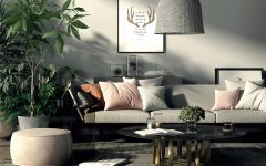 5 Boho Chic Living Rooms that are ready for this Summer! boho chic living room 5 Boho Chic Living Rooms that are ready for this Summer! NONAGON style n9s studio render of the week lixe living room boho eclectic rattan lampshade plants marble gray pink sofa 240x150