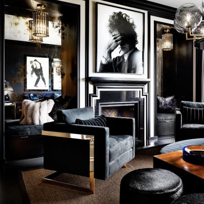 A Black Living Room, Some Inspirations For Your Summer Interior Design! black living room Black Living Room, Some Inspirations For Your Summer Interior Design! black 2 1