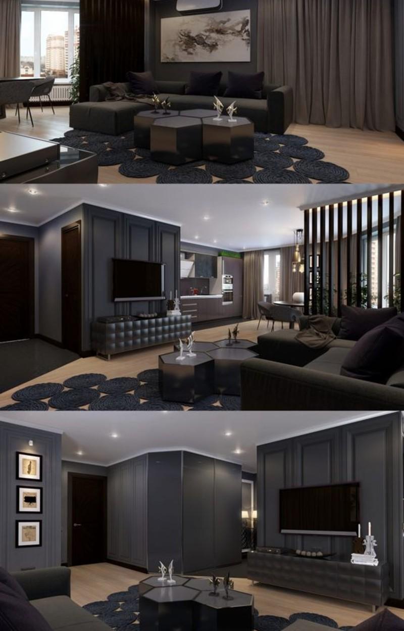 A Black Living Room, Some Inspirations For Your Summer Interior Design! black living room Black Living Room, Some Inspirations For Your Summer Interior Design! black 5 1