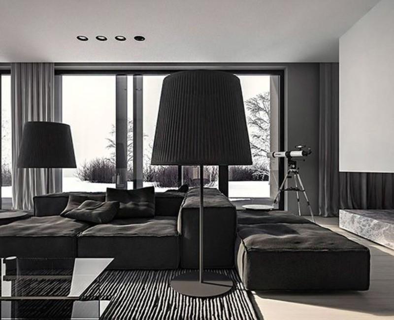 A Black Living Room, Some Inspirations For Your Summer Interior Design! black living room Black Living Room, Some Inspirations For Your Summer Interior Design! black 6 1 1