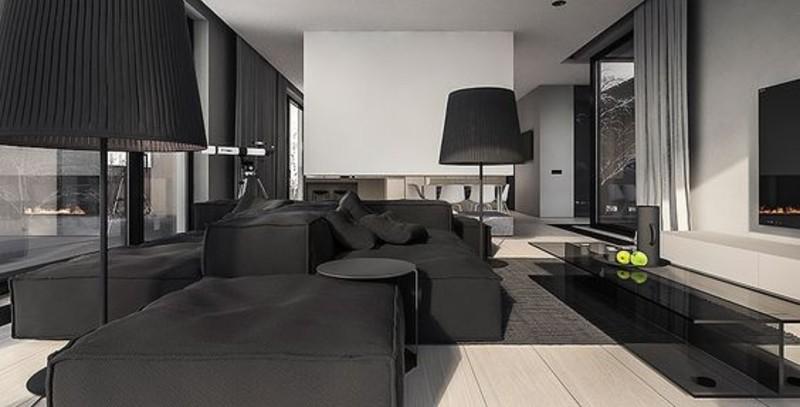 A Black Living Room, Some Inspirations For Your Summer Interior Design! black living room Black Living Room, Some Inspirations For Your Summer Interior Design! black 6 3 1