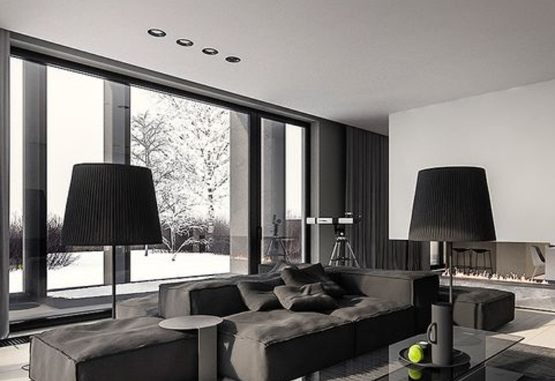 A Black Living Room, Some Inspirations For Your Summer Interior Design! black living room Black Living Room, Some Inspirations For Your Summer Interior Design! blanc 6 2 1