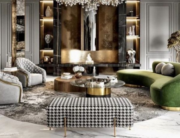 5 Gorgeous Living Room Designs Using a Velvet Sofa! gorgeous living room 5 Gorgeous Living Room Designs Using a Velvet Sofa! velvet 2 1 600x460