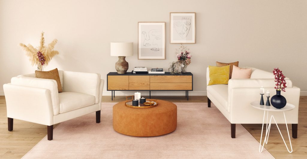 5 Stylish Ways To Add Mid-Century Ottomans In Your Home_2